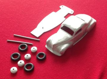 Dinky Toys copy model 39C Lincoln Zephyr in kit form